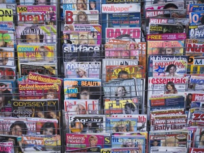 magazines at newsstand