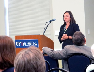 Joy Rumble presents at UF about genetically modified foods